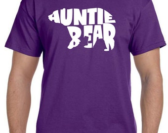 Auntie Bear Tshirt Aunt Gift Auntie Gifts Aunt Shirt Gifts for Aunts Pregnancy Reveal to Family Auntie to Be Baby Announcement Gift Idea