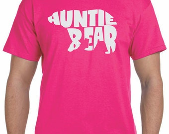 Auntie Bear Auntie Gifts Aunt Gift Aunt Shirt Gifts for Aunts Auntie to Be Pregnancy Reveal to Family Baby Announcement Christmas Gift Idea