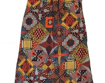Patch Work Maxi Dress