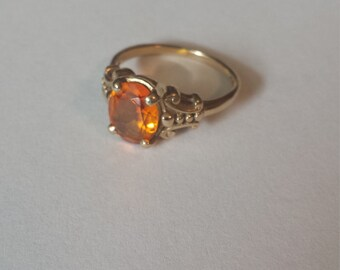 10K Yellow Gold Ring With Citrine