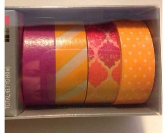 Set of 4 coordinating washi samples