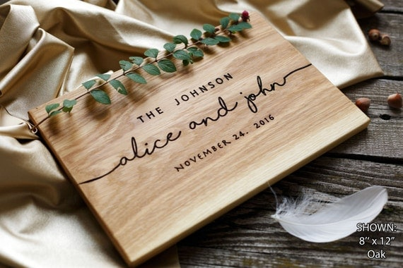 Wedding Gift Ideas For Couples: Wedding Gift Personalized Cutting Board Gift By