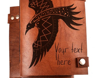 Personalized leather diary - Custom diary - Lether journal - Personalized Sketchbook - Custom Notebook - Gift fot him