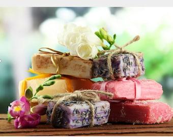 Homemade Lavender or Blood orange soap. see details