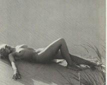 Nude Painting Vintage original Print - Naked Woman Print Bedroom Art Print