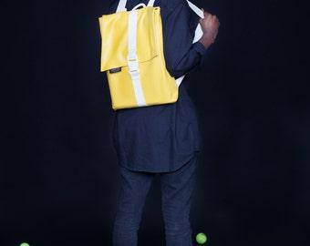 Mens satchel, Yellow Satchel, Rucksack backpack, Student gift, Laptop Backpack, Satchel backpack, Waterproof Laptop bag, Teen bags