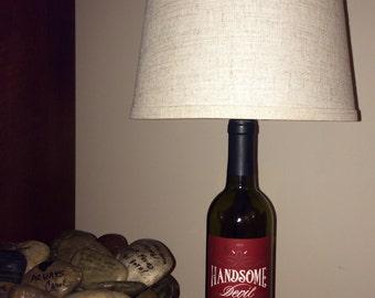 Wine Bottle Man Cave Lamp