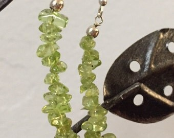 Peridot Chip Earrings