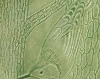 Nuthatch Carved Porcelain Platter