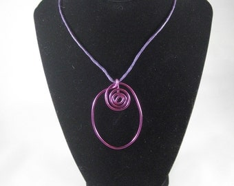 Spiral Oval Necklace