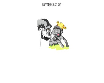 Happy Mother's Day Gorilla Card