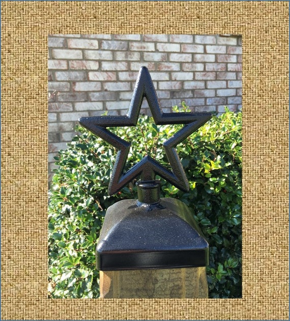 Fence Post Cap Decorative Star For 4x4 Fence And By