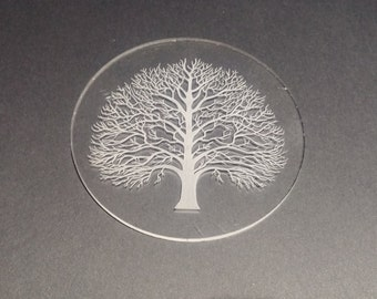 Laser etched acrylic coasters