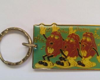 Vintage California Raisin Band Keychain