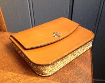Camel Leather Wallet Etsy