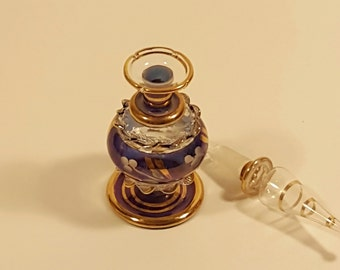 Blown Glass Egyptian Perfume Bottle. AS IS.