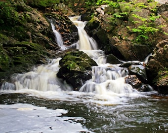 Bear's Den Falls, Waterfall, Massachusetts, Quabbin Reservoir, Swift River, Landscape, Nature,