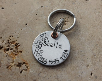 Dog Tag - Pet Tag - Pet ID Tag - Personalized Tags - Dog Collar Tag - Custom Dog Name Tag - Hand Stamped Tag - Aluminum ID Tag - Stella