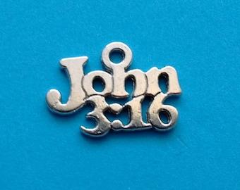 10 pcs John 3:16 Christian Charm - CS3016