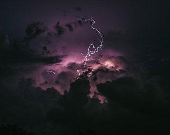 Lightning - Lightning Photo - Thunderstorm - Sky - Sky Photo - Nature Photos - Digital Photography - Instant Download - Wall Decor