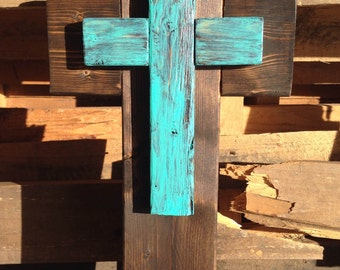 Rustic wood cross