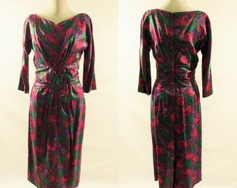 Carol Craig 1950s Vintage Long Sleeve Dress