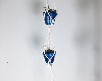 Double Decker Macramé Rope Planter
