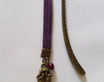 Bookmark ballerina purple and bronze