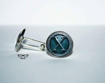 X-Men Cufflinks, Xmen cuff link, Superhero cuff links, Gift for him, Art Gifts, gift for Dad