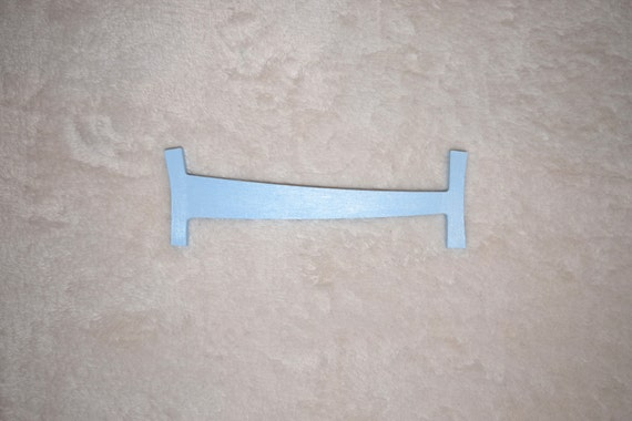 8 blue nursery letter door hanger boy wall hanging for Wall letters kids room