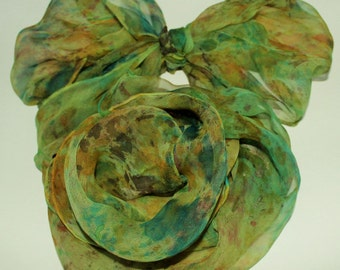 Silk scarf, # hand painted, #just for you, wearable art,