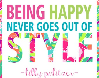 Lilly Pulitzer Quote Poster