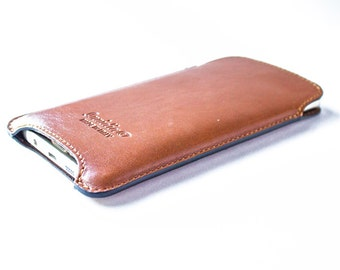 Leather Handmade sleeve pouch case for Samsung Galaxy Note 5 100% made in italy