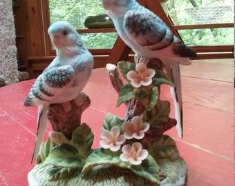 Beautiful fine porcelain blue birds