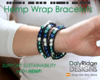 Quote Hemp Wrap Bracelet | Custom Morse Code Jewelry | Wedding Jewellery | Bridesmaid Gifts | Vegan | Personalized Gifts for Her
