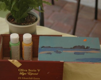 Paintings on Cigar Boxes