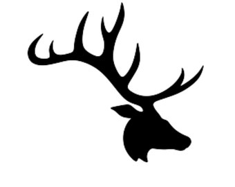 Deer Antler Stencil From Driftlesscutouts On Etsy Studio