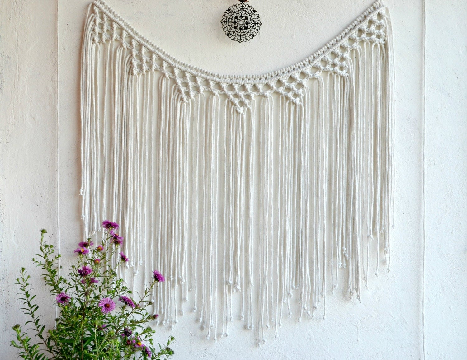 Open window with curtains blowing - Macrame Wall Hanging Fiber Wall Art Macrame Curtain Bohemian Wall Tapestry Banner Macrame Boho Backdrop Macrame Garland