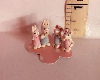Pair Tiny teenies, tiny mice, tiny bunnies