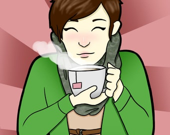 Tea Girl Print 7x5