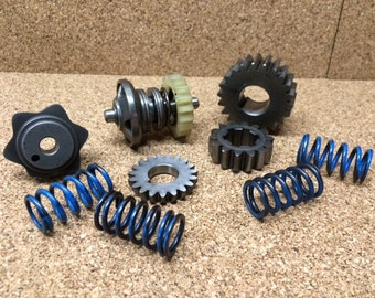 Steampunk Art Supply Small Gear Gears Springs Metal Altered Art Sculpture Mixed Media #333