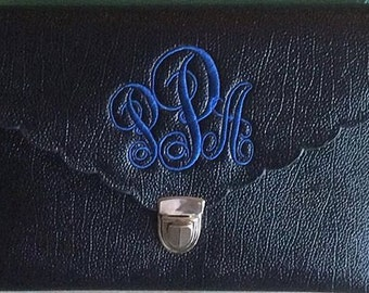 ON SALE monogrammed Clutch purses, Embroidery Clutch bags,
