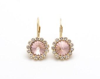 Swarovski Earrings, Rose, Gold or Silver