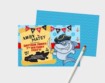 Pirate Invitation, Pirate Birthday Invitation, Pirate Invitations, Pirate Birthday Party, Pirate Party, Birthday Pirate,