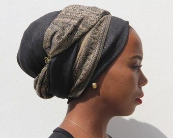 Charming Brown Gray Shades Pashmina Head Scarf Warm Winter Extra Wide African Head wrap  Hair Wrap For Women Pashmina Scarf Tichel Mitpachat