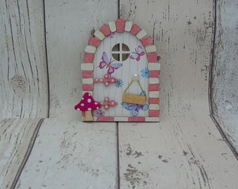 Fairy Door Pink Butterflies Beautiful Handmade Various options