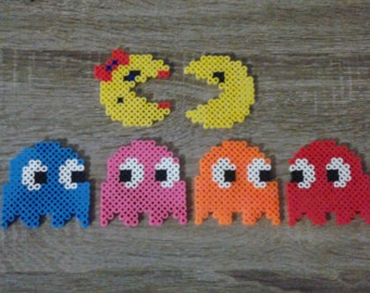 Pac-Man Magnets Perler Beads