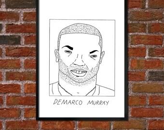 Badly Drawn DeMarco Murray - Philadelphia Eaglesposter / print / artwork / wall art