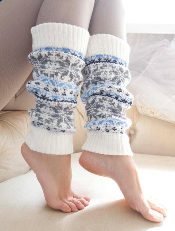 Knit Norwegian Leg Warmers, Women's Leg Warmers, Knitted Leg Warmers, long socks, wonderful stretchy gaiters, wool