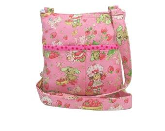 Strawberry Shortcake Crossbody Bag // Sling Bag // Crossbody Purse // Hipster